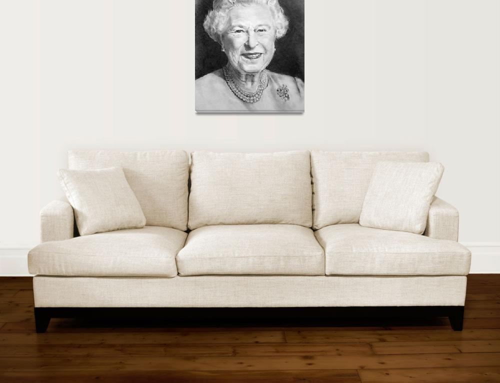 """Queen Elizabeth ll: Pencil Portrait&quot  (2015) by joyart"