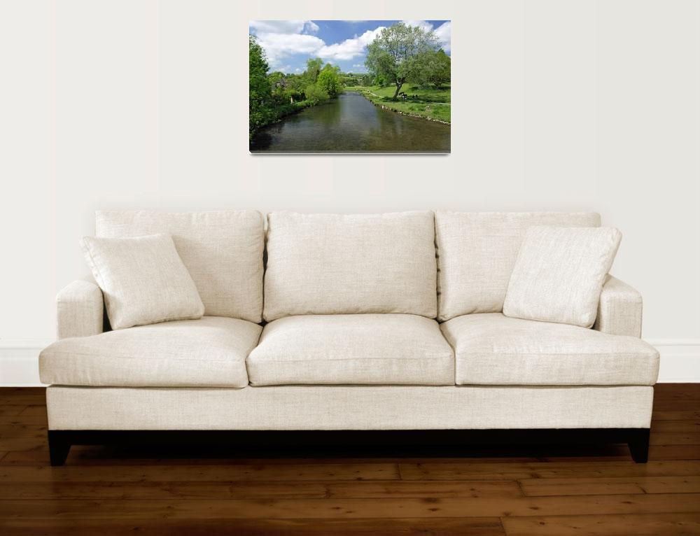"""""""The River Wye from Bakewell Bridge (31365-RDA)&quot  (2012) by rodjohnson"""