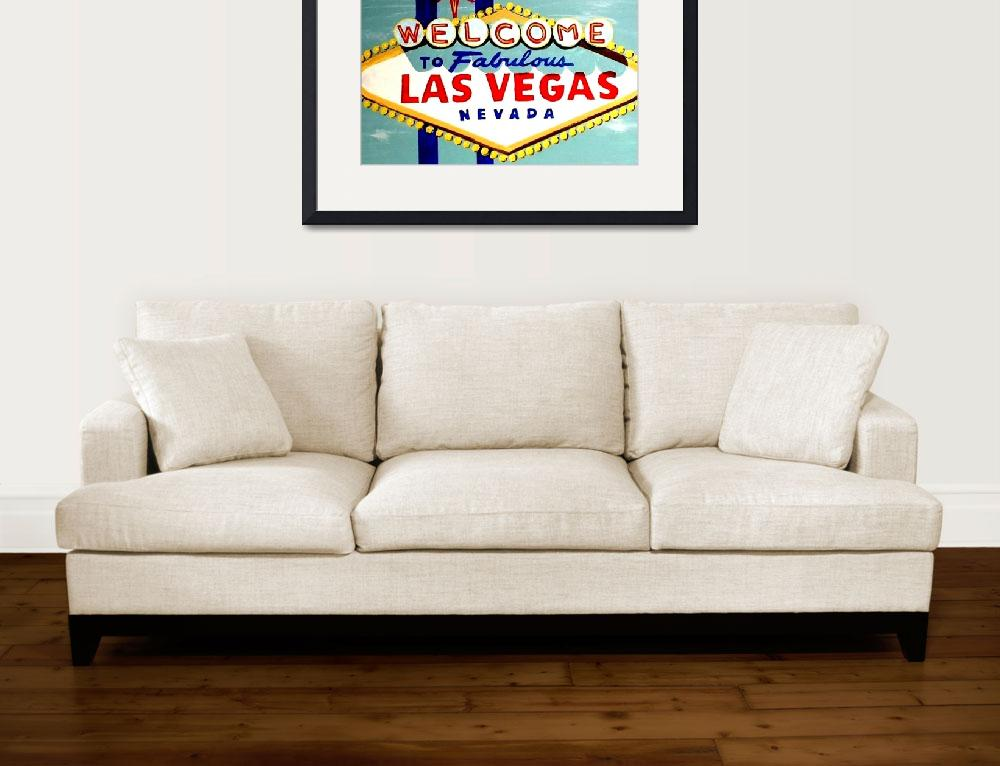 """""""WORLD FAMOUS HAND PAINTED LAS VEGAS SIGN DAYTIME&quot  (2007) by teofaith"""