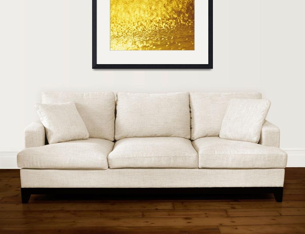 """Closeup Of Golden Shimmering Reflections Off Water&quot  by DesignPics"