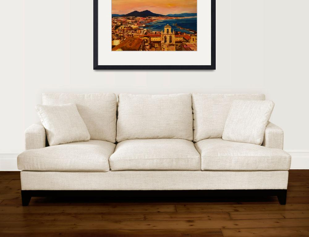 """""""Wonderful City View of Naples Italy with Mount Ves""""  (2016) by arthop77"""