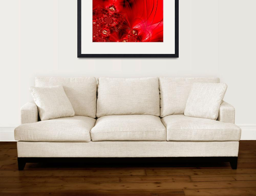 """""""Abstract Art Red Stage 2&quot  (2009) by shanmaree"""