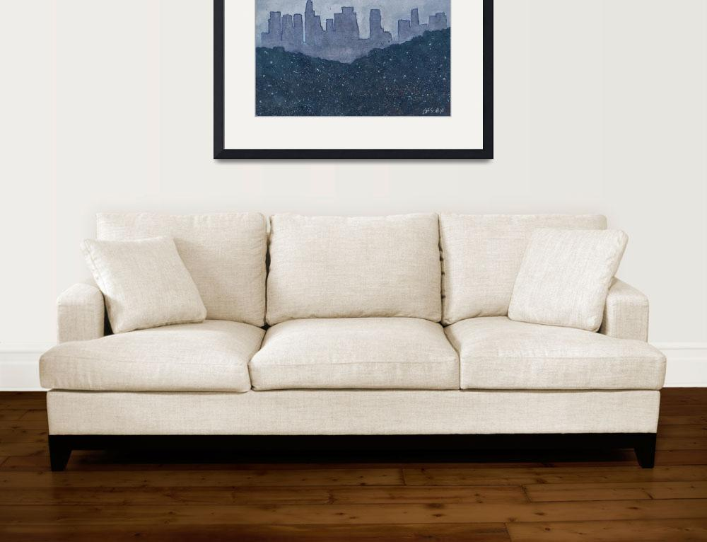 """""""Downtown Los Angeles&quot  (2008) by CatScott"""