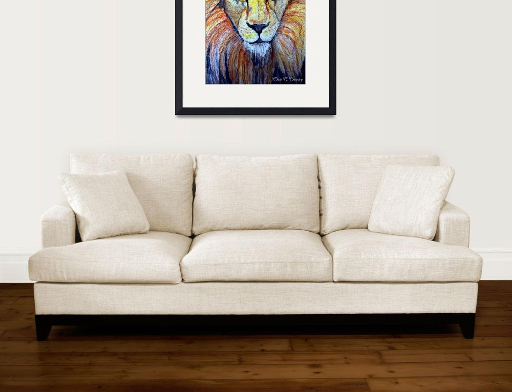 """""""Lion Crop&quot  (2009) by ChrisCrowley"""