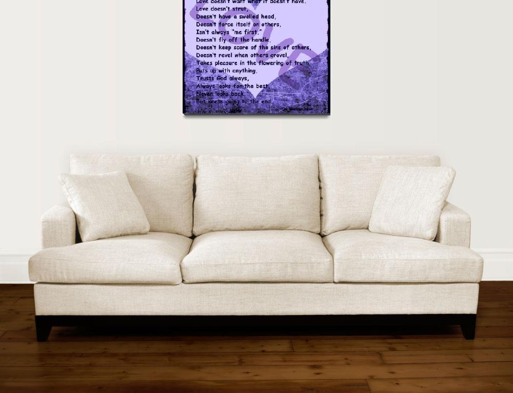 """love message heart purple""  by lizmix"