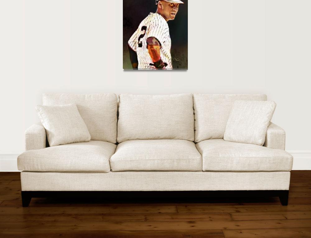 """""""Derek Jeter, New York Yankees, MLB # 2""""  (2012) by artofvela"""