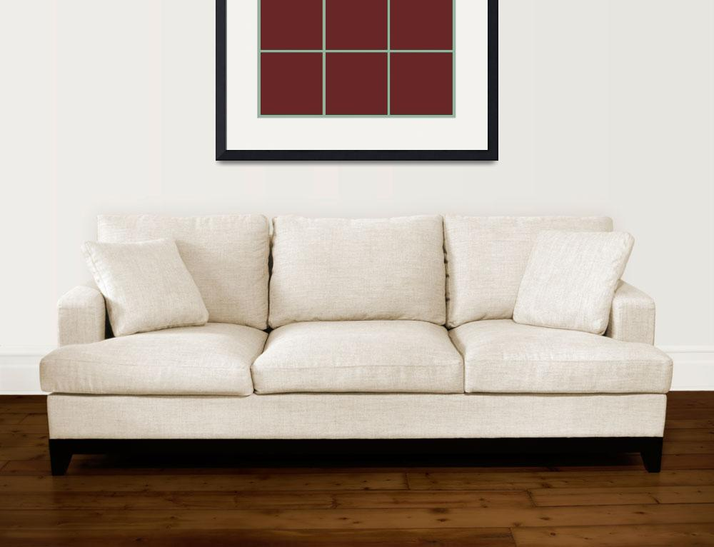 """Brown Window 125 Canvas Contemporary Modern""  (2010) by Ricardos"