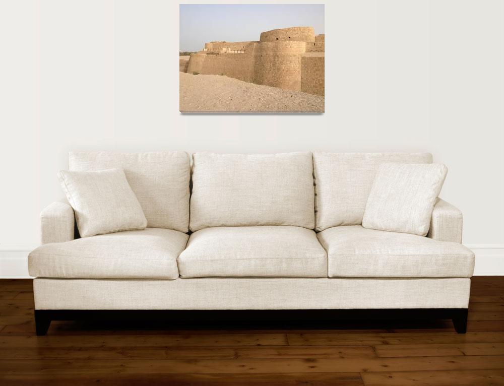 """Bahrain Fort""  (2015) by easyfigure"