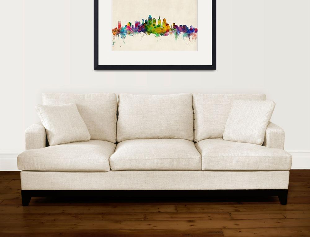 """Philadelphia Pennsylvania Skyline&quot  (2013) by ModernArtPrints"