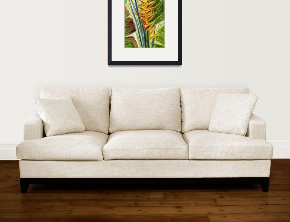 """""""Sunlit Heliconia In Yellow&quot  by JennyFloravita"""