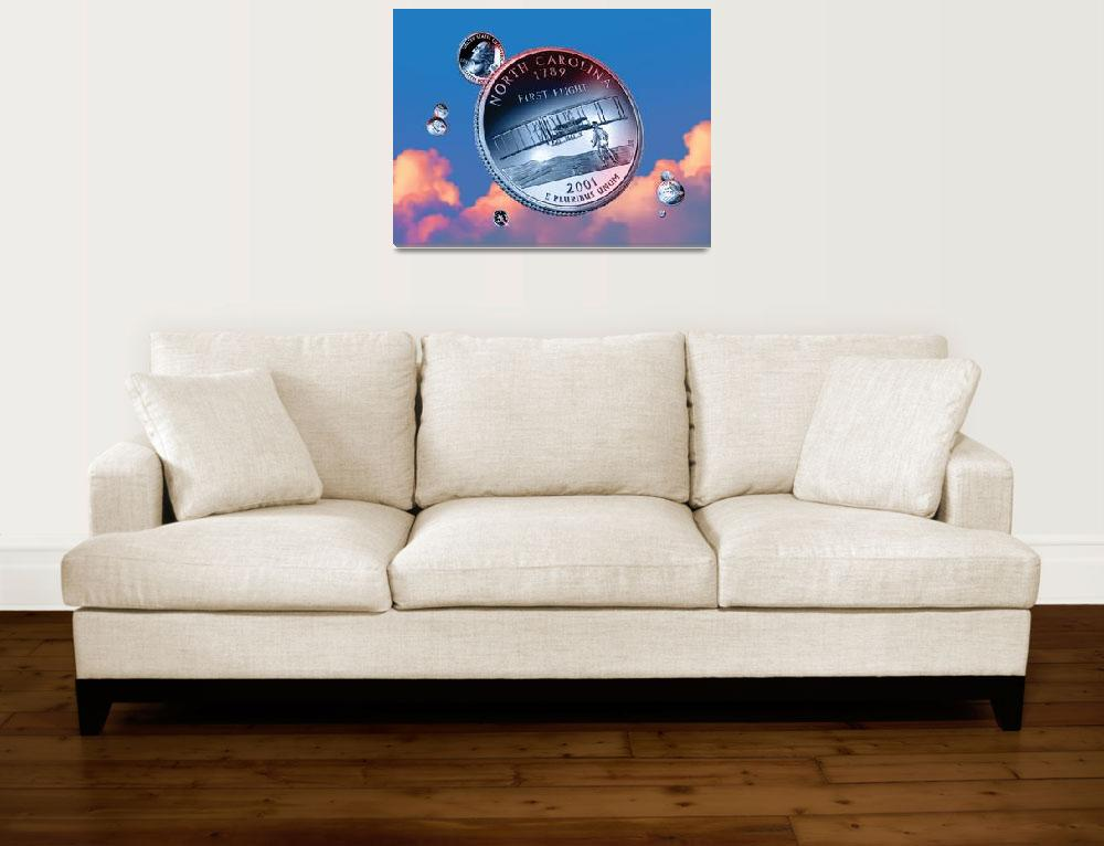 """""""North Carolina State Quarter - Sky Coin 12""""  (2017) by statequarters"""