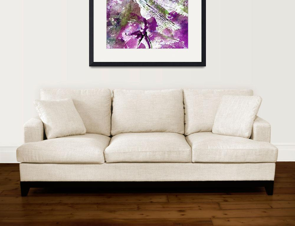 """""""Intuitive Abstract Art Purple""""  (2015) by GinetteCallaway"""