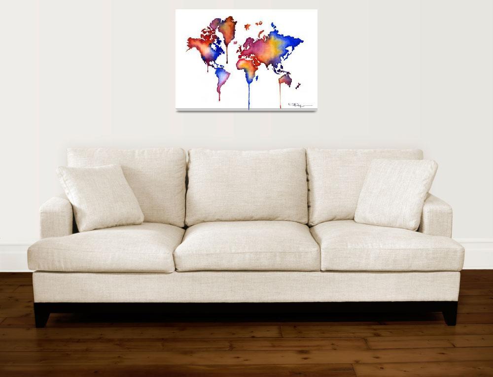 """World Map""  (2015) by k9artgallery"