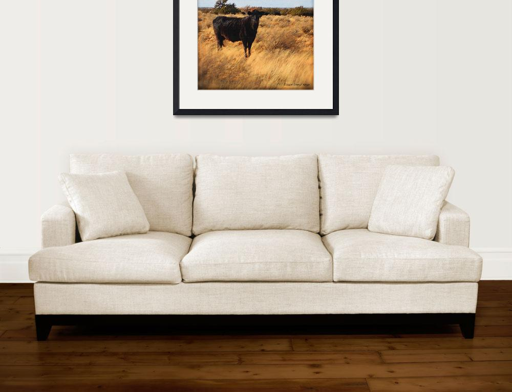 """""""Cow on the Range&quot  (2009) by SherylKaras"""