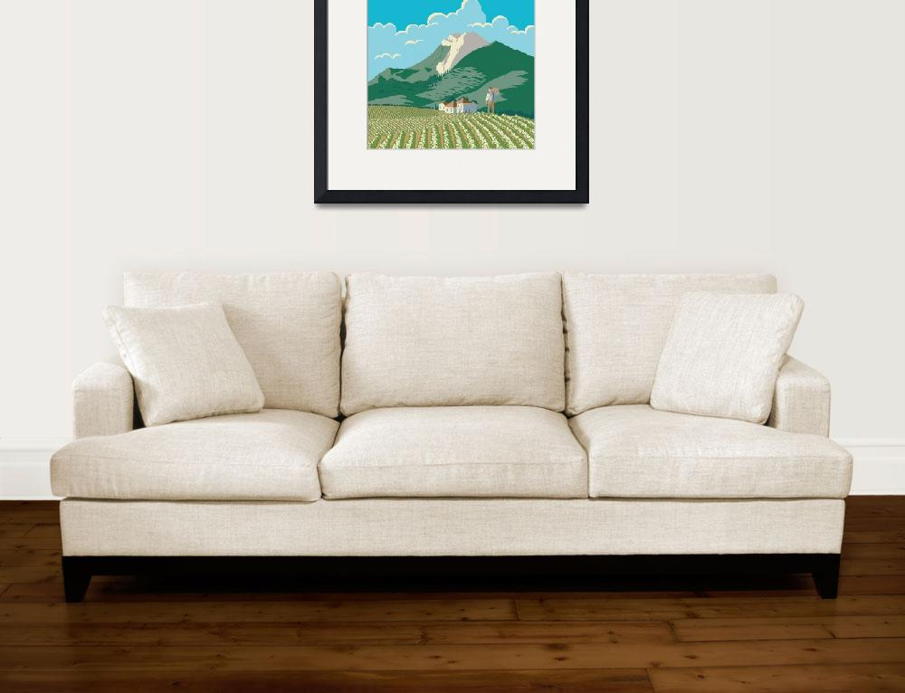 """""""San Joaquin Valley California Travel Poster""""  (2016) by blue67sign"""