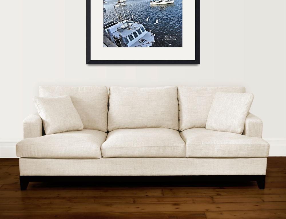 """""""FISH BOATS ANCHORAGE 2&quot  (2006) by Clipprx"""