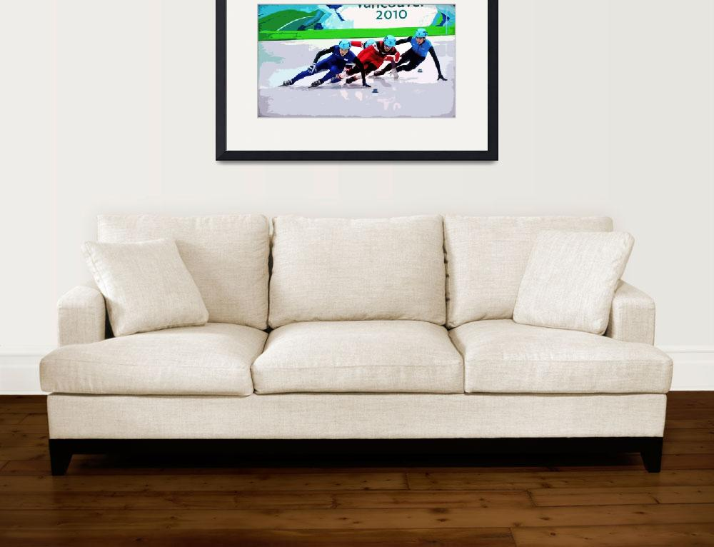 """""""Olympic Speed Skaters&quot  (2010) by ajc401"""