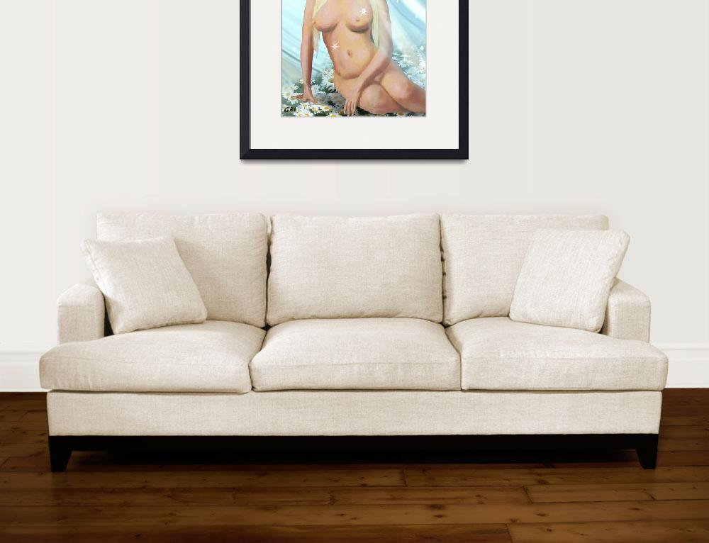 """FEMALE NUDE PAINTING CORI IN THE SKY DIAMONDS DAIS&quot  by grl"