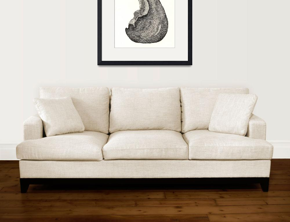 """Pen & Ink Fine Artwork Of A Pear""  (2011) by drawingwithdots"