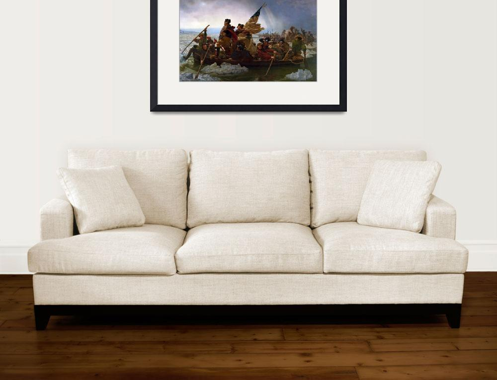"""""""Washington Crossing the Delaware River, 25th Decem&quot  by fineartmasters"""