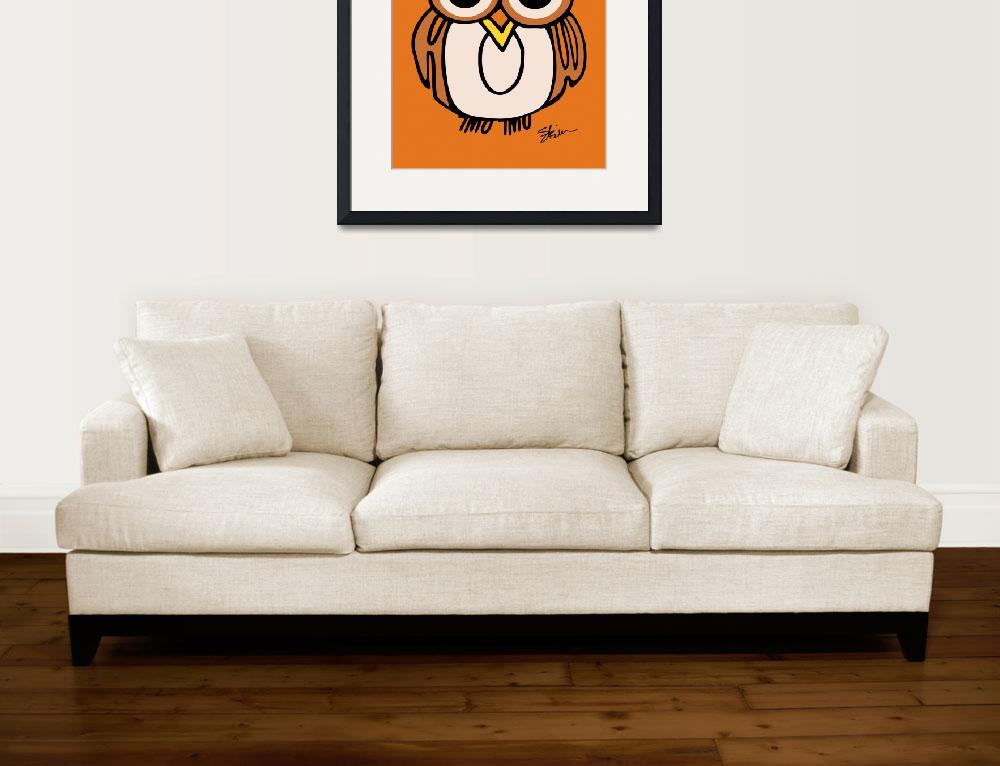 """""""Wide-Eyed Owl Says """"HOOT""""!!&quot  (2008) by kristensteinfineart"""