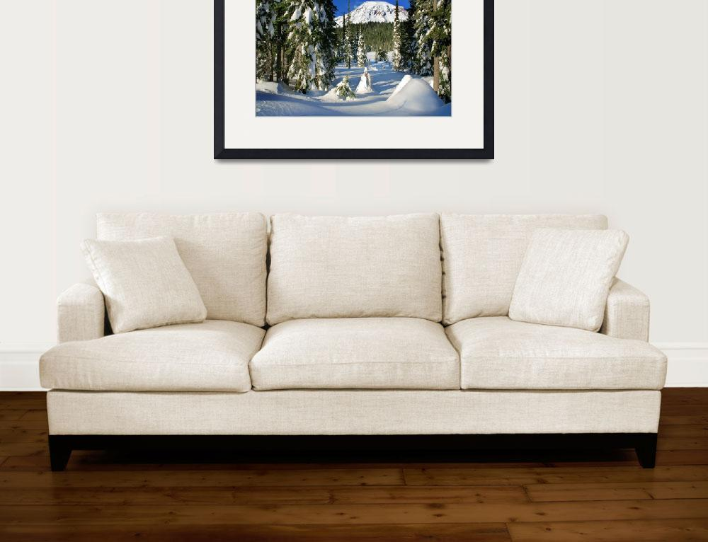 """""""Mt Rainier From Reflection Lakes In Winter&quot  (2008) by Inge-Johnsson"""