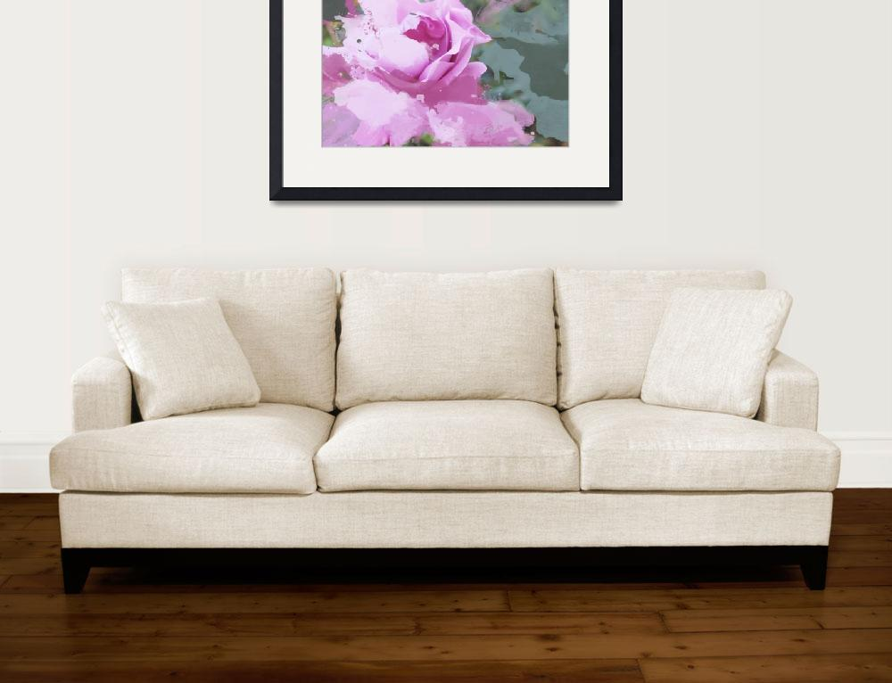 """""""ORL-3394 Fresh pink flower&quot  by Aneri"""