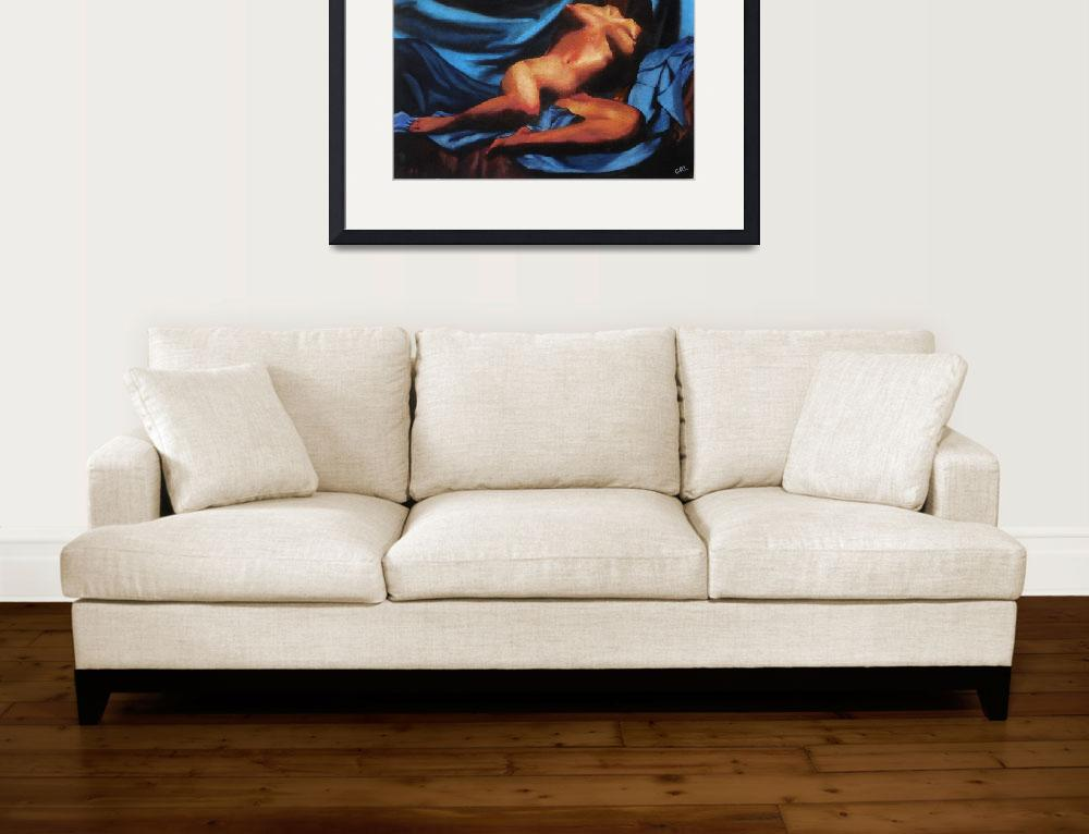 """Fine Art Nude Multimedia Painting Tanya Sitting Re&quot  by grl"