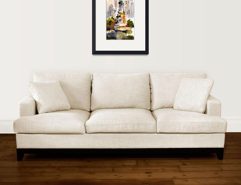 """""""Statue Of Liberty New York Watercolor by Ginette&quot  (2006) by GinetteCallaway"""