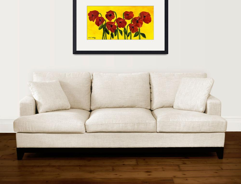 """Wistful Poppies&quot  (2011) by mariawilliams"