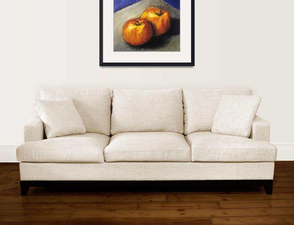 """""""Two Apples with Blue and Grey""""  (2005) by Michelle1991"""