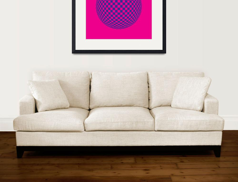 """""""Squares in Motion Spehere Magenta & Blue&quot  by jvorzimmer"""
