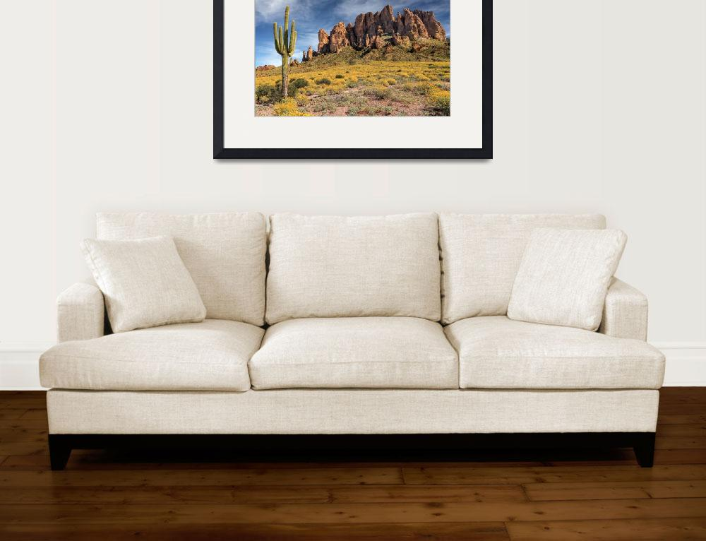 """""""Superstition Mountains Saguaro&quot  (2016) by jameseddy"""