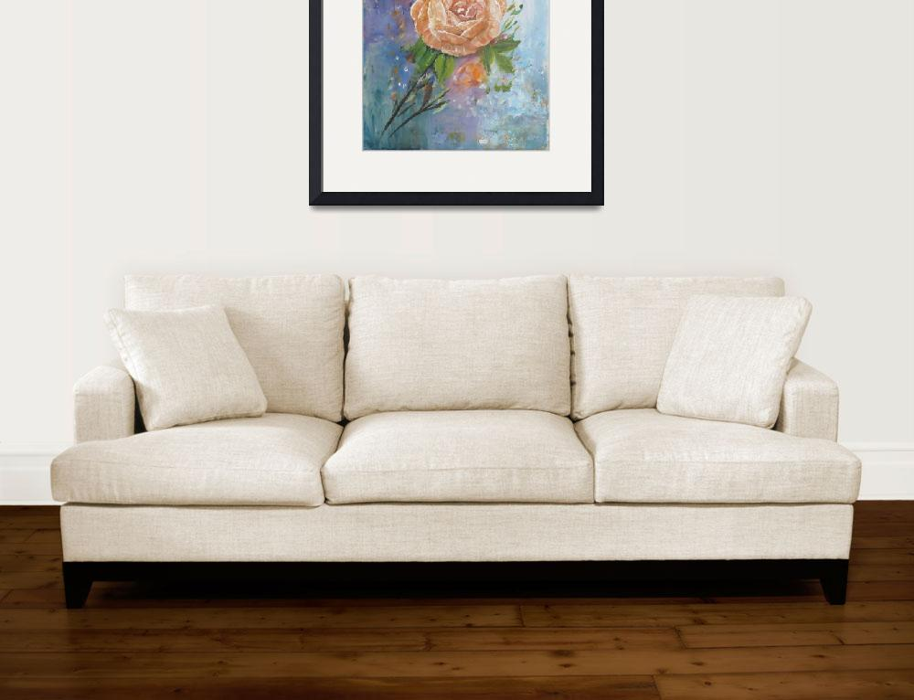 """Floral Painting of a Casual Rose&quot  (2018) by VisualGemsStudio"