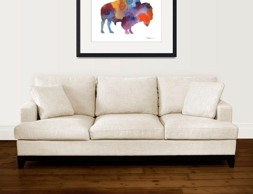 """Buffalo""  (2017) by k9artgallery"