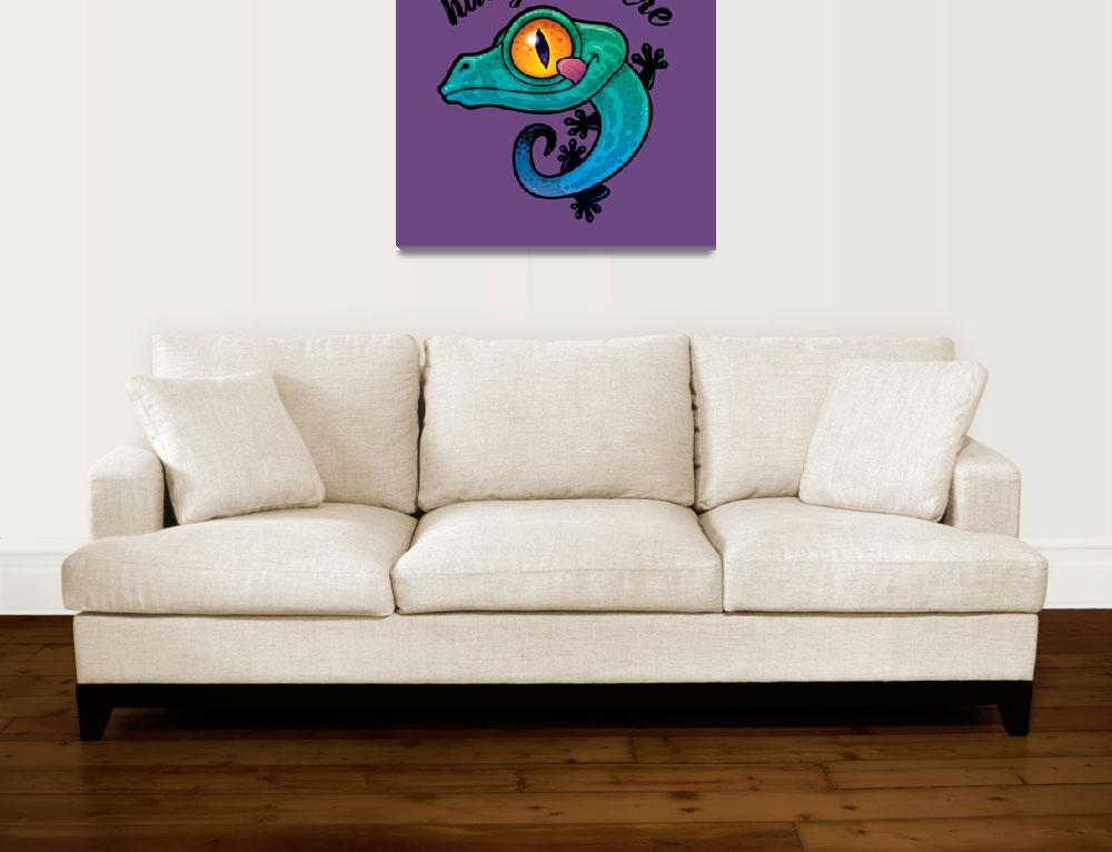 """""""Hang In There Colorful Gecko&quot  (2018) by schwegel"""