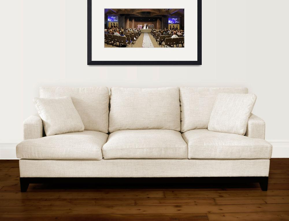 """""""Wedding panoramic in drybrush filter&quot  (2011) by JohnChaoPhoto"""