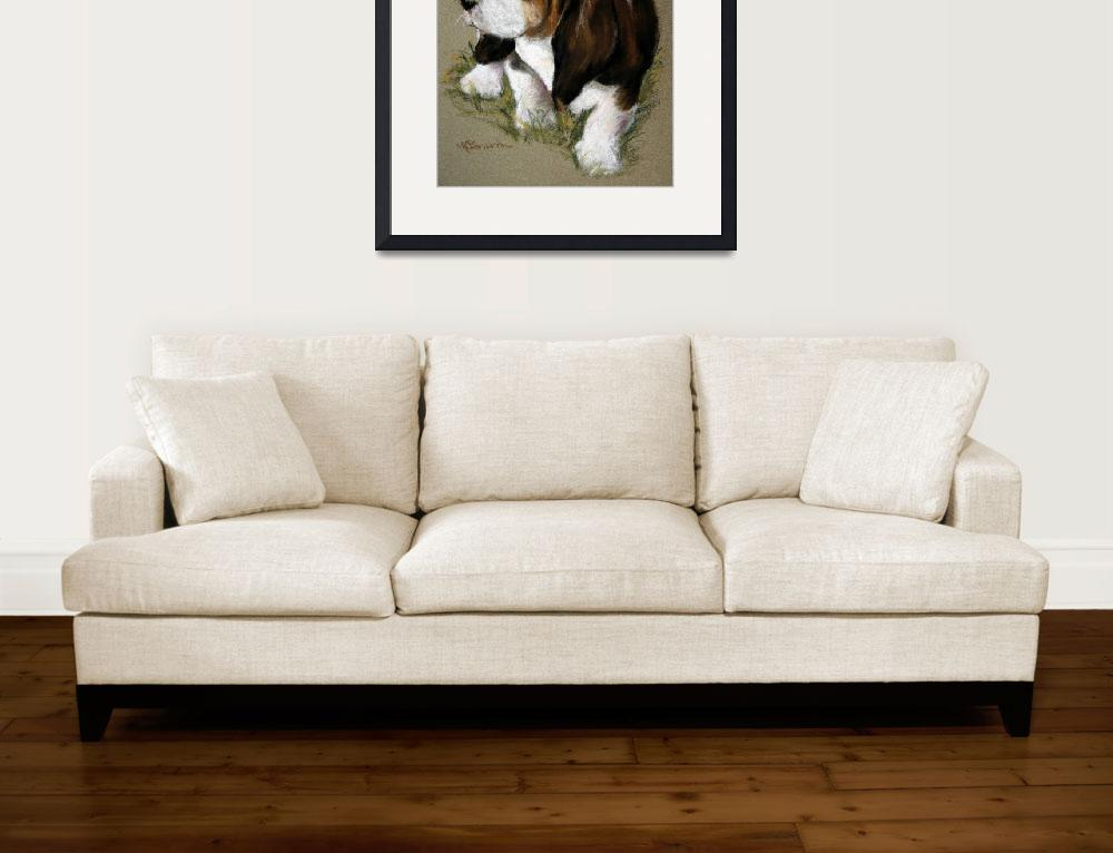 """""""The Little Basset&quot  by marysparrowsmith"""