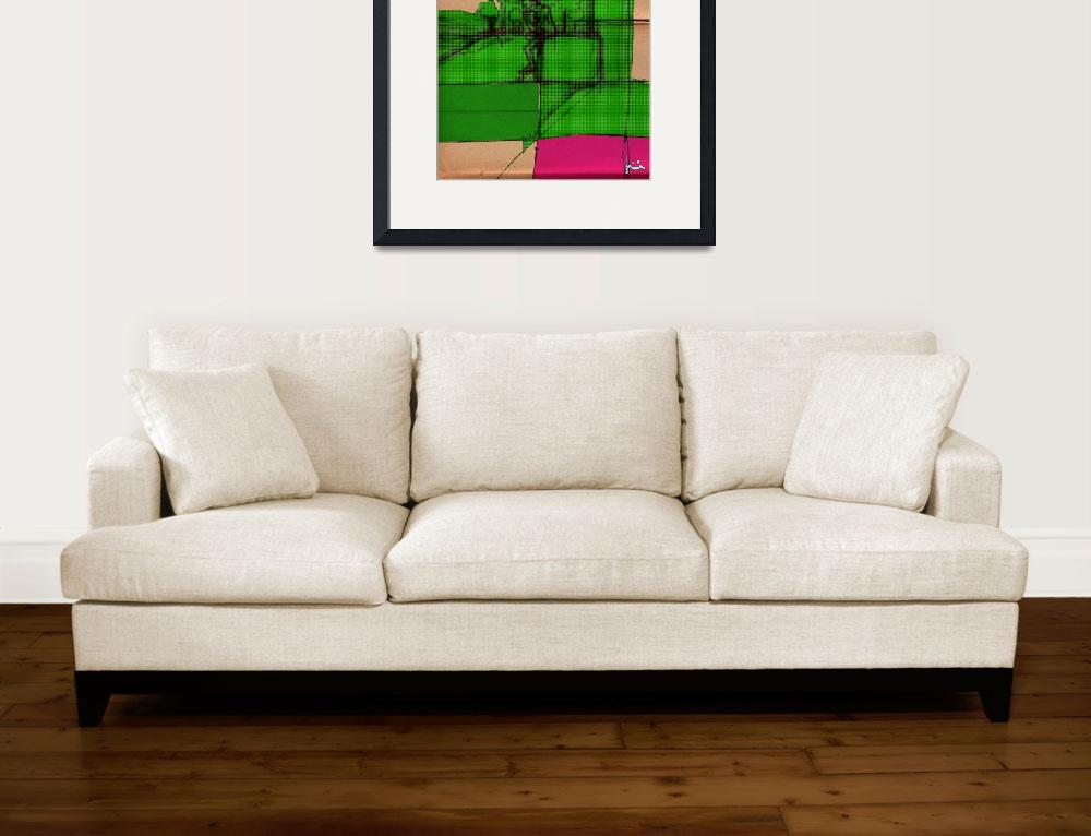 """""""PINK GREEN&quot  (2012) by jasedam"""