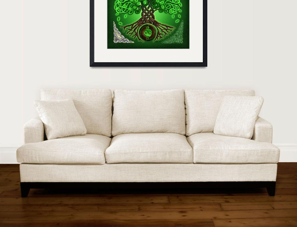 """Circle Celtic Tree of Life&quot  by foxvox"