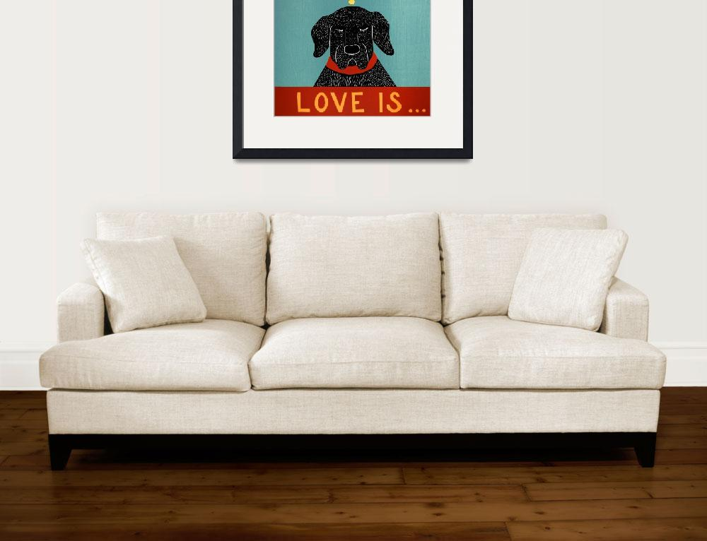 """""""Love Is Dog Girl Black&quot  by artlicensing"""