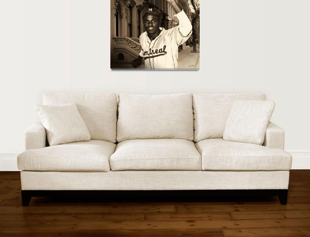 """""""Jackie Robinson Becomes a Brooklyn Dodger""""  (2010) by spadecaller"""