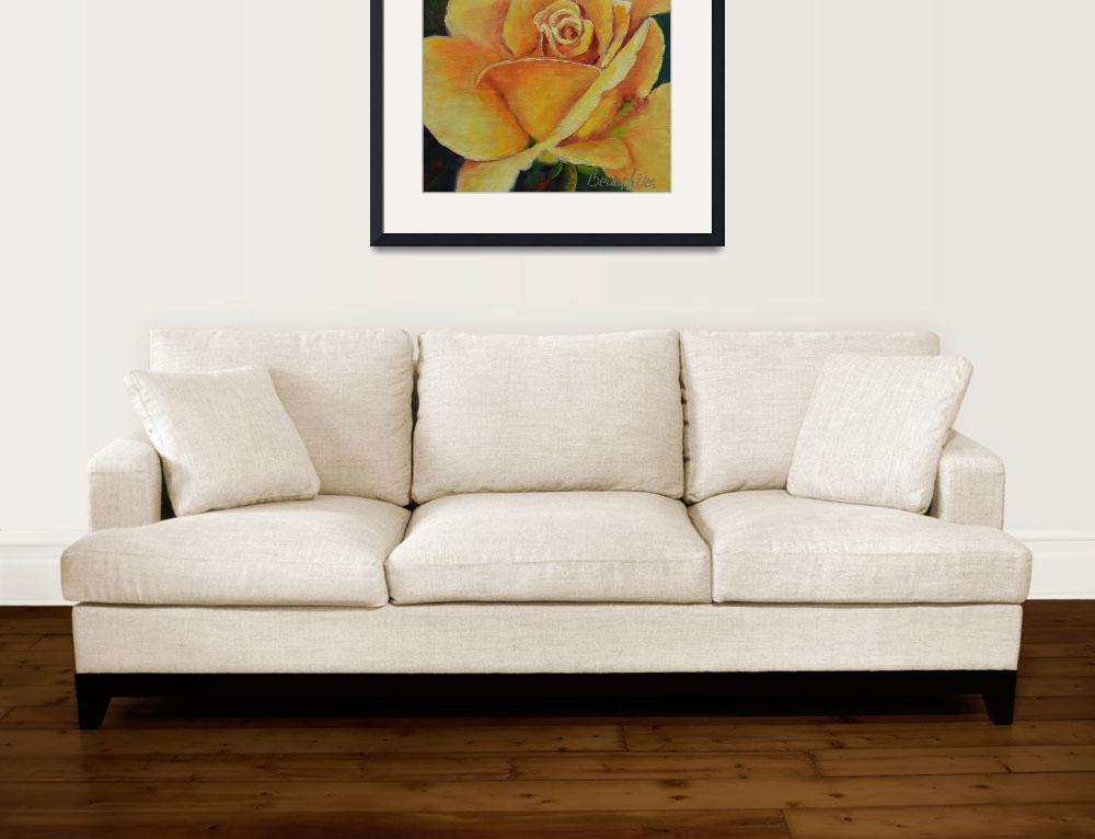 """""""Yellow Rose of Texas""""  (2013) by Beckyhicksfineart"""
