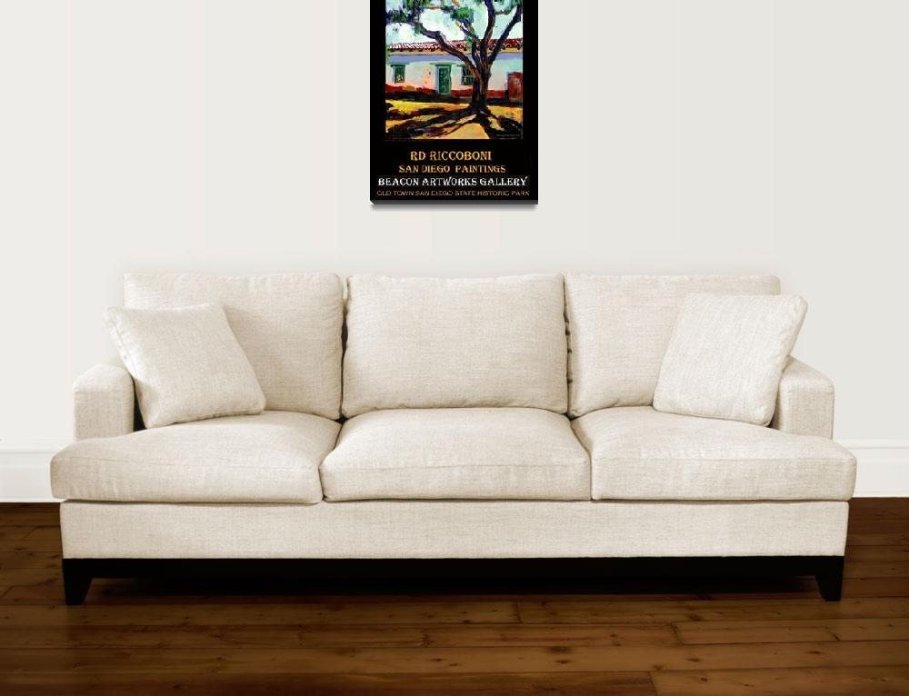"""Peppertree in Old Town San Diego poster""  (2006) by RDRiccoboni"