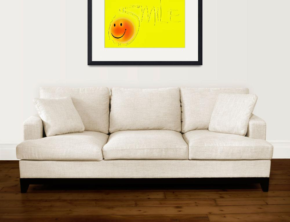 """""""smile outline sunny face&quot  by lizmix"""
