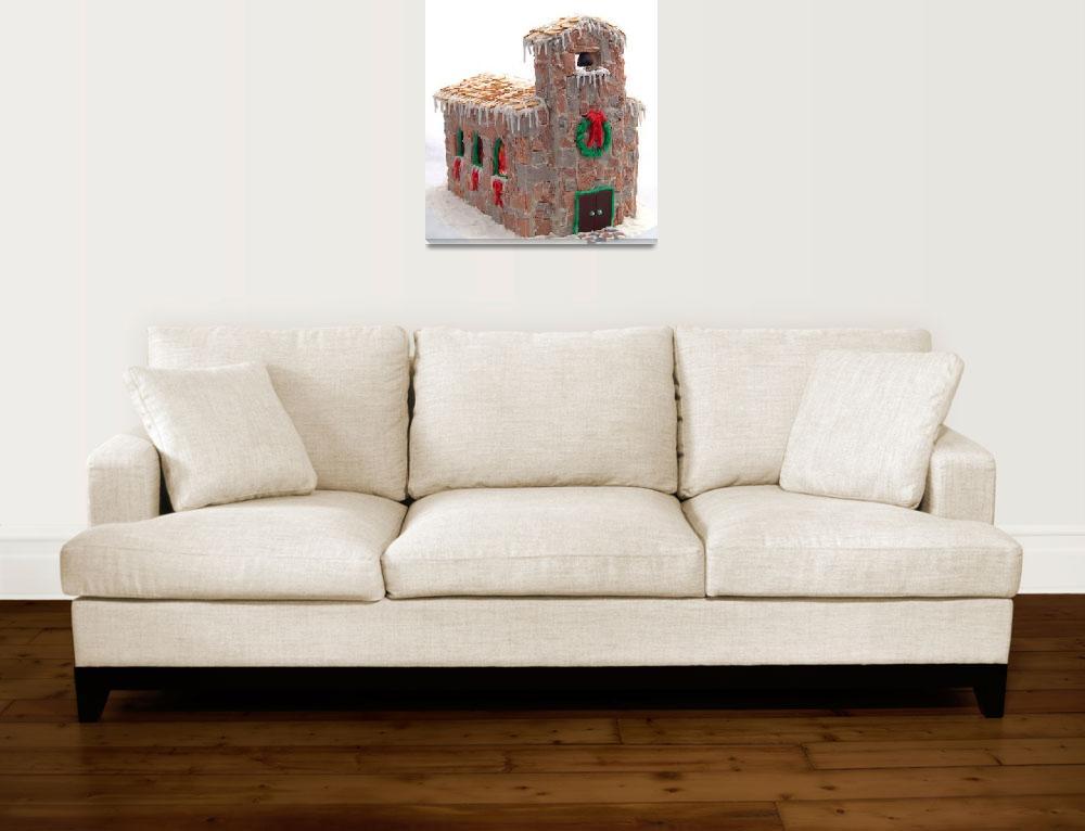 """Gingerbread Church""  (2008) by evansonart"