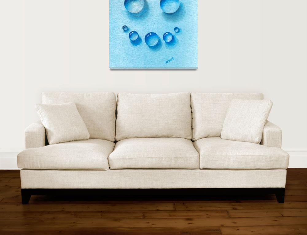 """""""Smiley Water Drops&quot  (2015) by oystudio"""