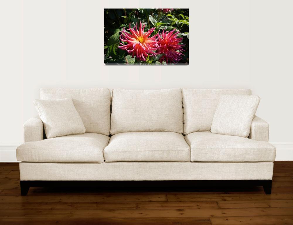 """Dahlias Garden Fine Art Prints Gifts Flowers&quot  by BasleeTroutman"