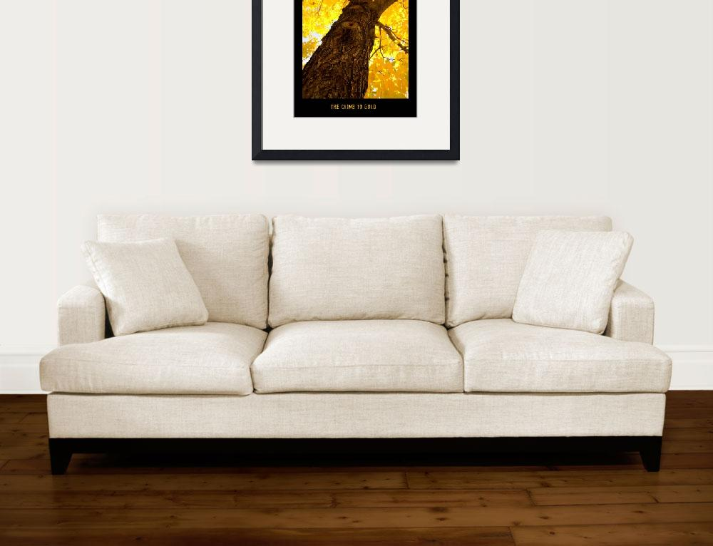 """""""The Climb To Gold - Poster Print&quot  (2010) by lightningman"""
