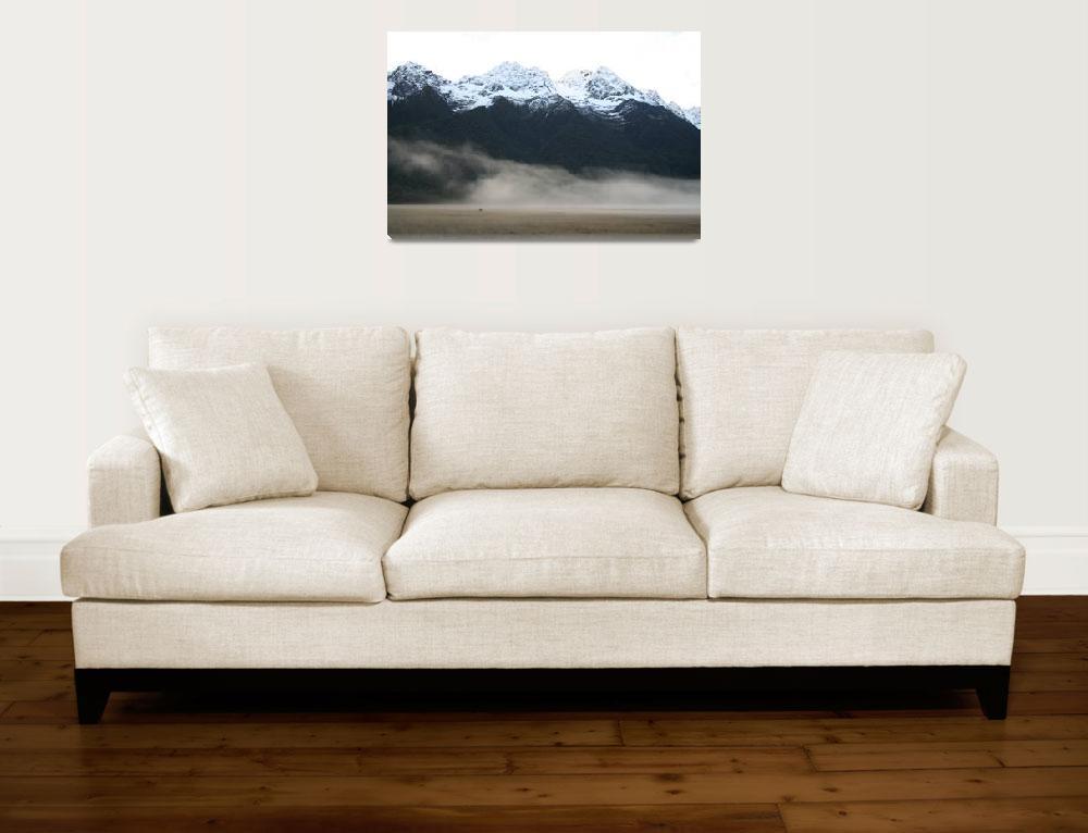 """""""Mountains, New Zealand&quot  (2006) by ElizabethWoodson"""
